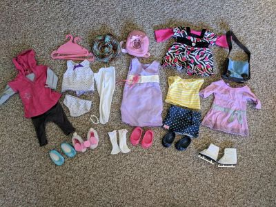 American girl clothes lot