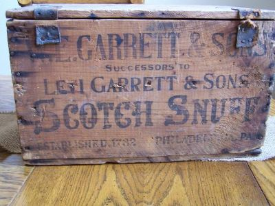 $135, Levi Garret  Sons Wood Shipping Crate