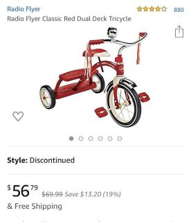 Brand new radio flyer tricycle