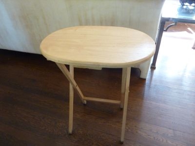 Set of 4 Natural Wood Folding Tables