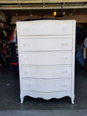 Antique French provincial 5 drawers dresser