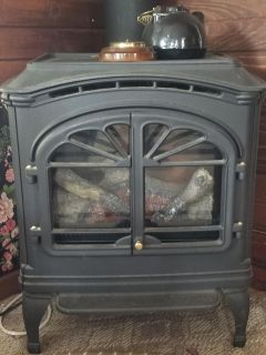 Cast iron electric free standing fireplace