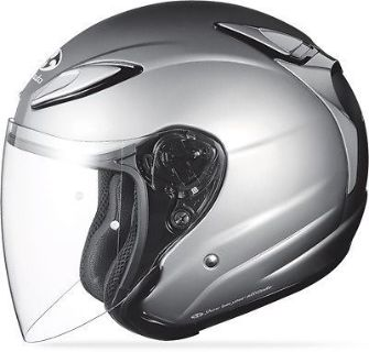 Purchase Kabuto Avand II Open Face Motorcycle Helmet Solid Silver motorcycle in Hinckley, Ohio, United States, for US $139.95