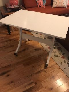 Vintage flat top rolling table