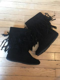 Rampage girls suede boots size 2