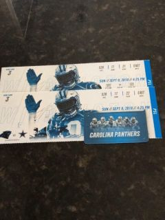 2 Tickets for Panthers vs Cowboys $400