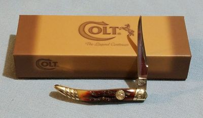 Small Toothpick - Colt Brown Stag Bone Pocket Knife CT213