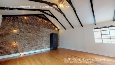 Unique Studio In the Historic District of Capitol Hill With Exposed Brick, Stainless Steel Appliances, Original Rteoofing In Beautiful Neighborhood!