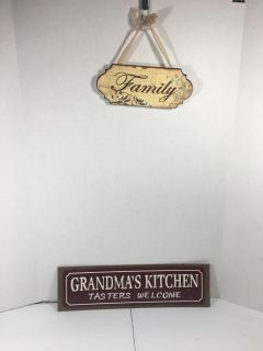 Grandma s Kitchen and Family Metal Sign lot
