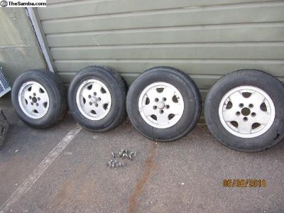 vanagon alloy wheels with tires