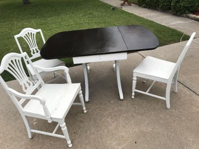 Shabby Chic Dining table & Chairs
