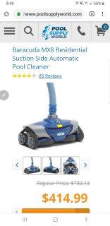 New MX8 Pool cleaner