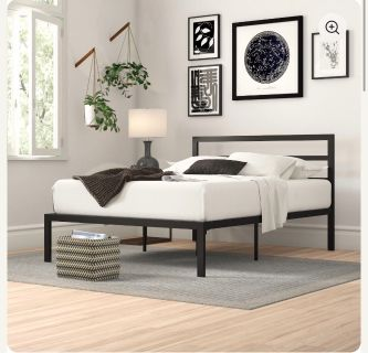 Queen Mattress & Metal Bed Frame
