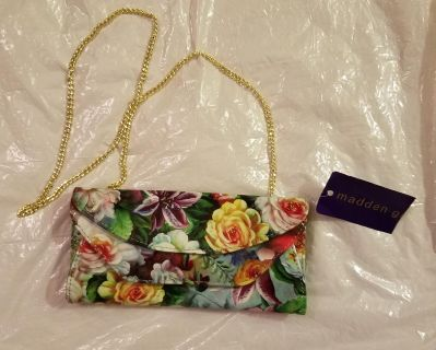 Madden Girl Floral Clutch/Crossover Purse