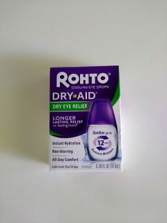 New in Box: Rohto Dry-Aid Dry Eye Relief Cooling Lubricant Eye Drops, .34 fl oz (10mL) -> $5.