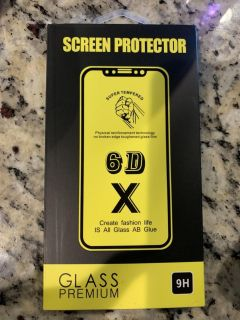Brand new tempered glass protector for iPhone XS Max