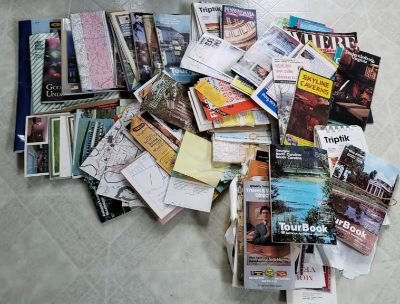 Lot of Maps, Brochures and Postcards