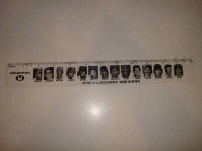 1975 Milwaukee Brewers Ruler White Hen Pantry Coca Cola YOUNT Aaron
