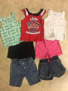 Lot of 3t girls tanks and shorts