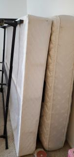 Queen box spring, mattress and bed frame $100