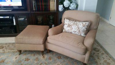 Stuffed Chair w/Ottman
