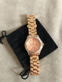Michael Kors women s watch rose gold/crystals - had since Christmas