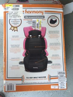 Booster seat with back