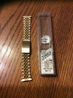 NIP men s gold watch band with two extra spring bars