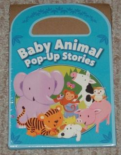 NEW 4 Baby Animal Pop Up Stories Set Zoo Farm Friends Good Night Little Bear