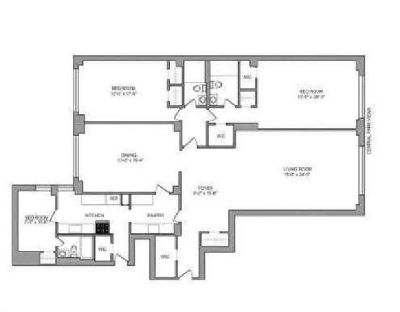 3 bedroom 3 bathrooms apartment for rent