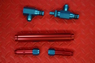 Sell BILLET ALUMINUM RED & BLUE ANODIZED FUEL LOG NEW FOR BARRY GRANT, PROCOMP, 9/16 motorcycle in Brooksville, Florida, United States, for US $29.98