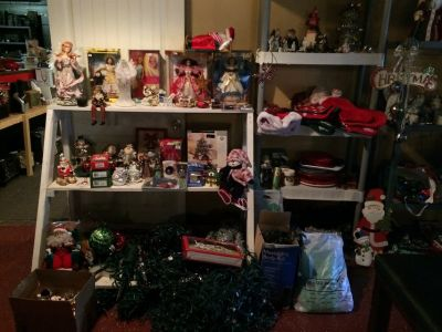 Large Selection Of Christmas Decorations ! Trees, Lights, Ornaments Air Blow Ups Etc