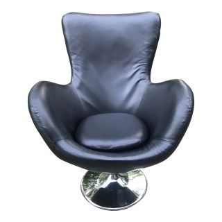 Mid Century Modern Style Lounge Chair in Black