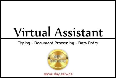 Professional Personal Assistant, Typist, Data Entry - Virtual