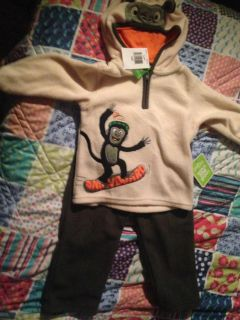 NWT size 12 months sesame street hooded jogging suit