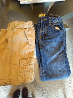Boys size 7 jeans and khakis