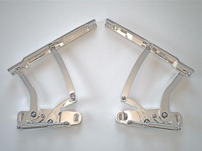 Buy 69 1969 70 1970 IMPALA BILLET HOOD HINGES POLISHED. MADE IN U.S.A. motorcycle in Fullerton, California, US, for US $594.95