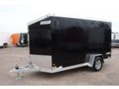 2019 Haulmark ALX 6x12SA Aluminum Enclosed Cargo Trailer - Black