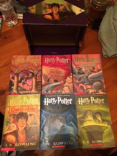 Harry Potter book collection years 1-6