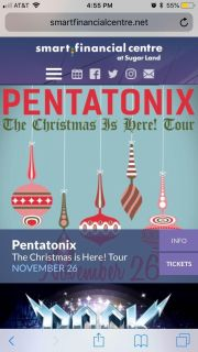 ISO pentatonix tickets at smart financial
