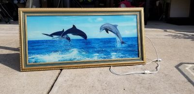 Dolphin Light Up w/ Ocean sounds Picture Frame