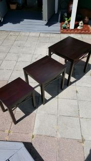 Nice set of wood nesting tables