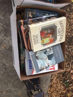 Three boxes full of books