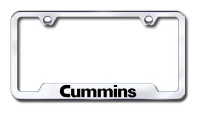 Sell Chrysler Cummins Laser Etched Chrome Cut-Out License Plate Frame Made in USA Ge motorcycle in San Tan Valley, Arizona, US, for US $31.19