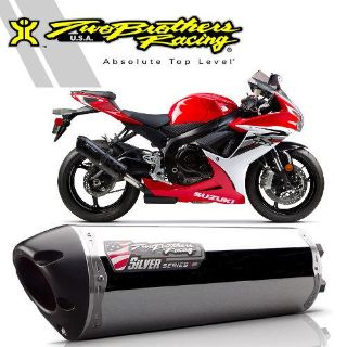 Sell Two Brothers Suzuki GSX-R600/750 2011-13 Aluminum Silver Series Slip-On Exhaust motorcycle in Ashton, Illinois, US, for US $367.96