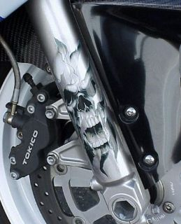 Purchase SKULL DECAL GRAPHIC for MOTORCYCLE FORKS motorcycle in Laguna Hills, California, United States, for US $5.95