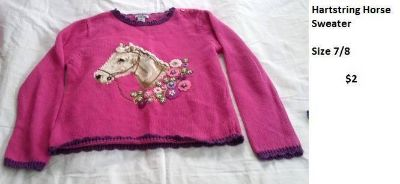 HARTSTRING HORSE SWEATER SIZE 7/12
