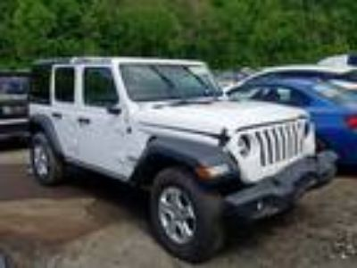 Salvage 2018 JEEP WRANGLER UNLIMITED SPORT for Sale