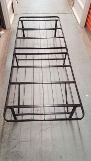 Foldable metal twin bed frame (2 available)