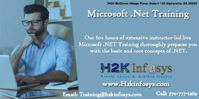 .Net Online Training Classes and Job Readiness Assistance H2kinfosys